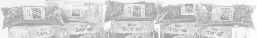 Incensos de Resina Italiano Linha Sabatinus