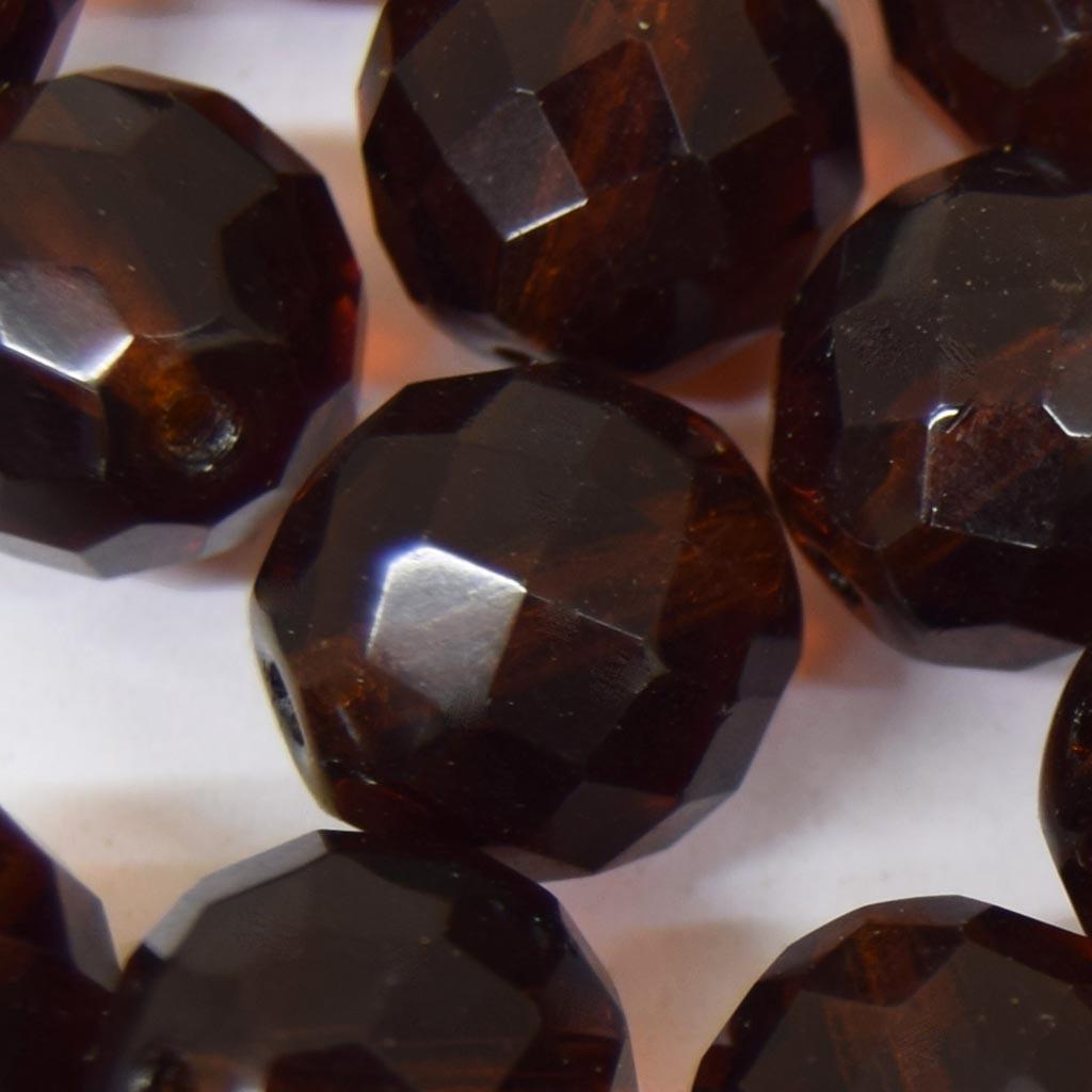 Cristal 14 mm Transparente Marrom 711637