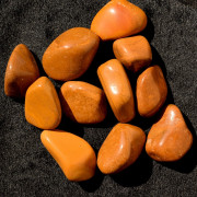 Pedra Polida Jasper Amarelo 1 Unidade