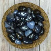 Pedra Polida Agata Preta    - 1 Kilo
