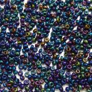 Miçanga 9/0 grafite irizada azul 708157