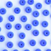 Enfeite Murano de Vidro Opaco Tcheco Cilindro 5 x 7  mm Azulão 709124