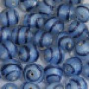 Murano Italiano Decorado Filetado Azul 12 mm 709283