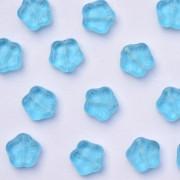 Enfeite de Vidro Tcheco Flor 10 mm Azul 709609