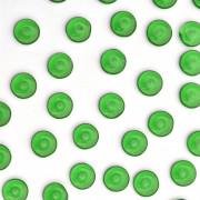Enfeite de Vidro Tcheco Disco 7 mm Verde 709634