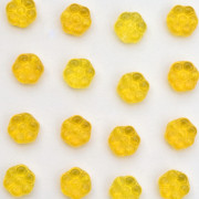 Enfeite de Vidro Tcheco Flor 8 mm Amarelo 710267