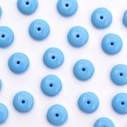 Enfeite de Vidro Opaco Tcheco Disco 9 mm Azul 710347
