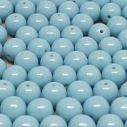 Conta de Porcelana 8 mm Opaca Azul Claro - 300 uni - 6301 -   710719