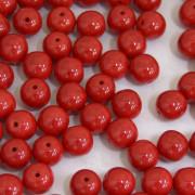 Conta de porcelana 8 mm Opaca Vermelha especial 710822