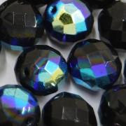 Cristal 14 mm Transparente Irizado Preto 711262