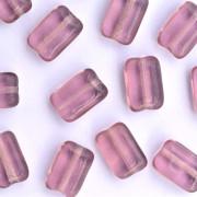 Enfeite Murano de Vidro Transparente Tcheco Drops 12 x 8 mm Lilás 711307