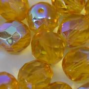 Cristal 8 mm Transparente Irizado Amarelo Ouro 711717
