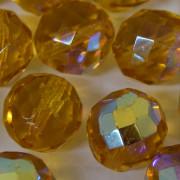 Cristal 14 mm Transparente Irizado Ouro 711809