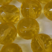 Cristal 14 mm Transparente Ouro 711816
