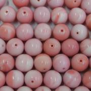 Conta de porcelana 10 mm Opaca Rosa 712191