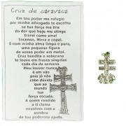 Cruz de Caravaca 2cm com Oração - 1 Unidade