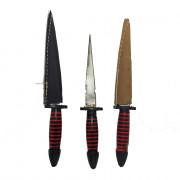 Punhal 12cm Preto/ Vermelho - 1 Unidade