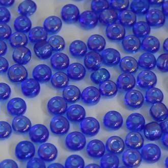 Miçanga 6/0 Transparente/Irizada Azulão 708872