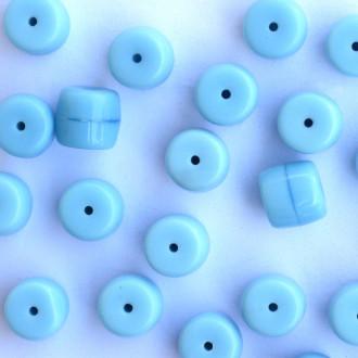 Enfeite Murano Opaco Tcheco Cilindro 9 / 10 mm Azul Claro 709087