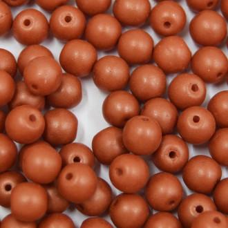Conta de porcelana 6 mm Metalizado Fosco Chocolate 709238