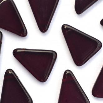 Enfeite Murano de Vidro Tcheco Triangulo 19 x 15 mm Vermelho 711108