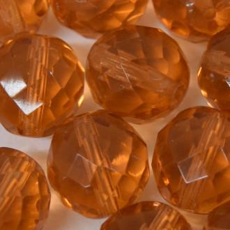 Cristal 14 mm Transparente Ouro 711631