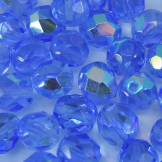 Cristal 8 mm Transparente Irizado Azul Anil 711713