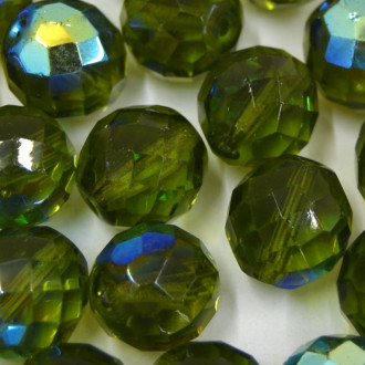 Cristal 14 mm Transparente Irizado Verde Oliva 711808