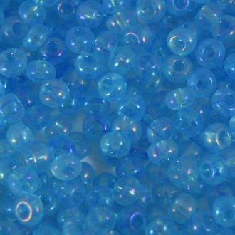 Miçanga 6/0 Transparente Pintado Irizado Azul 711925