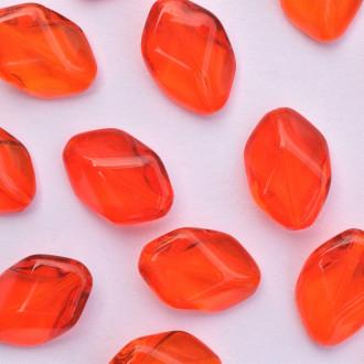 Enfeite Murano de Vidro Tcheco Balão  16 x 11 mm Coral 711997
