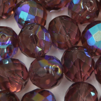 Cristal 12 mm Transparente Irizado Lilás 712145