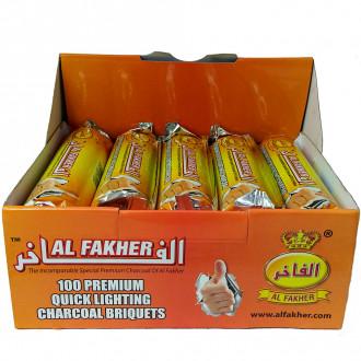 Carvão Pastilha Al Fakher 1 Caixa com 100 Unidades